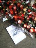 Vaclav Havel´s tribute in Trutnov Stock Photography