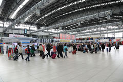 Vaclav Havel机场布拉格 库存图片