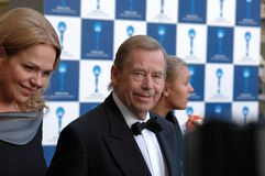 Vaclav Havel et Dagmar Havlova Photo libre de droits