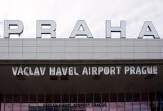Vaclav Havel flygplats Prague royaltyfria foton
