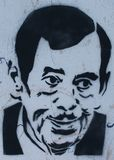 Vaclav Havel graffiti on a wall. Czech president Vaclav Havel graffiti Royalty Free Stock Photography
