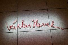 Vaclav Havel minnesmärke arkivfoto