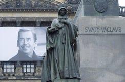 Vaclav Havel och St. Ludmila fotografering för bildbyråer