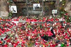 Vaclav Havel's Tribute. Memory of the Czech President Vaclav Havel in Pilsen stock image