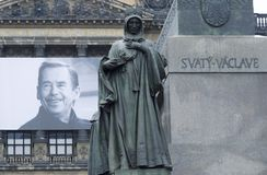 Vaclav Havel und Str. Ludmila Stockbild