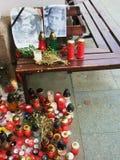 Vaclav Havel´s tribute in Trutnov Royalty Free Stock Image