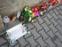 Vaclav Havel´s tribute in Trutnov Stock Photo