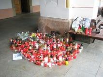 Vaclav Havel´s tribute in Trutnov Stock Image