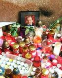 Vaclav Havel´s tribute in Trutnov portrait Royalty Free Stock Photos