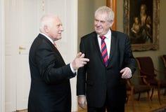 Vaclav Klaus and Milos Zeman Royalty Free Stock Photo