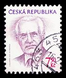 Vaclav Klaus (1941), president, Definitive Issues serie, circa 2005. MOSCOW, RUSSIA - FEBRUARY 10, 2019: A stamp printed in Czech Republic shows Vaclav Klaus ( royalty free stock photos