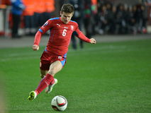 Vaclav Pilar of Czech Republic. Prague 28/03/2015 _ Match of EURO 2016 qualification group A Czech Republic - Latvia 1:1 0:1. Goals 90' Pilař - 30' Višnakovs Stock Photo