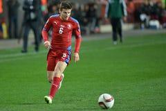 Vaclav Pilar of Czech Republic. Prague 28.03.2015 _  Match of the EURO 2016 qualification group A Czech Republic - Latvia 1: 1 0: 1st Goals 90 'Pilar - 30' Viš Royalty Free Stock Photos