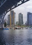 Vacouver, BC Harbor. View of Vancouver, BC from Granville Island Royalty Free Stock Images