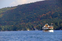 Vactationers enjoying sightseeing cruise on the Horicon,Fall,Lake George,New York,2013 Royalty Free Stock Photography