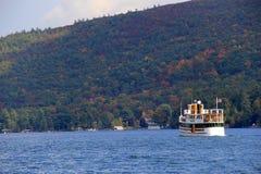 Vactationers enjoying sightseeing cruise on the Horicon,Fall,Lake George,New York,2013 royalty free stock photography