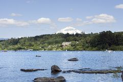 Vaction resort by a lake Stock Photos