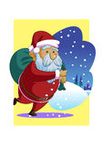 Vactor κινούμενων σχεδίων Άγιου Βασίλη Χριστουγέννων Στοκ εικόνα με δικαίωμα ελεύθερης χρήσης