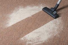 Vacuüm schoonmakend tapijt royalty-vrije stock afbeelding
