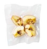 Vacuüm verzegelde appelen stock afbeelding