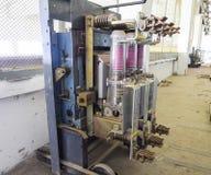Vacuümhoogspanningsschakelaar Elektromateriaal van het pompen stock fotografie