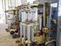 Vacuümhoogspanningsschakelaar Elektromateriaal van het pompen royalty-vrije stock afbeeldingen