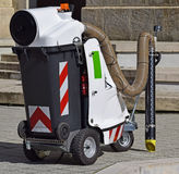Vacum street cleaner machinery. In the city Royalty Free Stock Photography