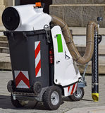 Vacum street cleaner machinery. Oudoors Royalty Free Stock Image