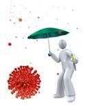 Vacuna como protección anti de la gripe libre illustration