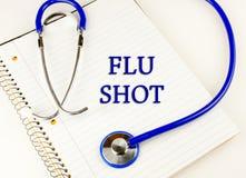 Vacuna contra la gripe Foto de archivo libre de regalías