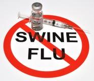 Vacuna de la gripe de los cerdos Fotografía de archivo libre de regalías