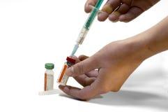 Vacuna de la gripe de pájaros Fotos de archivo libres de regalías