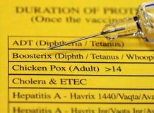 Vacunación Foto de archivo libre de regalías
