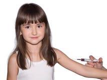 Vacunación de la muchacha foto de archivo libre de regalías