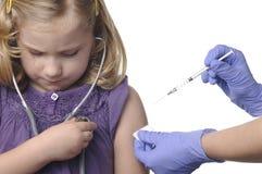 Vacunaciones del niño. Imagen de archivo