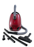 Vacuum cleaner. On clean white background Stock Photos