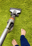Vacuum cleaner in action Royalty Free Stock Photos