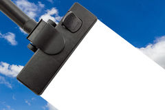 Vacuum Cleaner with Blue sky. Royalty Free Stock Image