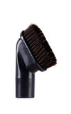 VACUUM CLEANER BRUSH. Brush head, the vacuum cleaner accessory in black color isolated in white Stock Images