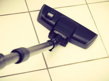 Vacuum cleaner extension tube. Sweeping housework technology device domestic concept. Vacuum cleaner extension tube. Part of hoover cleaning floor Stock Images