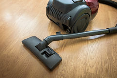 Vacuum cleaner on the floor Stock Photo