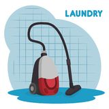 Vacuum cleaner laundry service Royalty Free Stock Photos