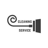 Vacuum cleaner like cleaning service logo Stock Images