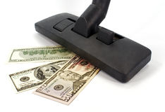 Vacuum cleaner and money Stock Images