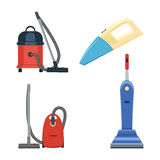 Vacuum cleaner set vector illustration  on white background Stock Photos
