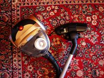 Vacuum cleaner to collect dust. No garbage bags. Details and close-up. Details and close-up royalty free stock photo