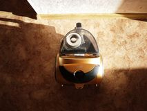 Vacuum cleaner to collect dust. No garbage bags. Details and close-up. Details and close-up stock photo