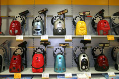 Vacuum Cleaners. Vacume cleaners at the opening of a new altex store in Bucharest stock photography