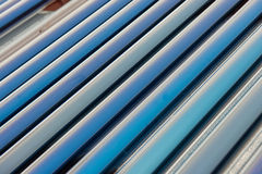 Vacuum collectors- solar water heating system Royalty Free Stock Photos