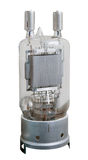 Vacuum electronic radio tube from old transmitter Stock Photo